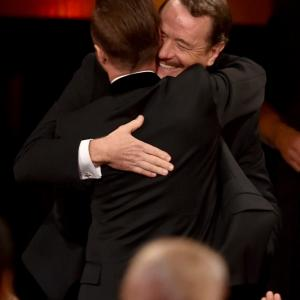 Bryan Cranston and Aaron Paul at event of The 66th Primetime Emmy Awards 2014