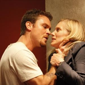 Still of Clayne Crawford and Katee Sackhoff in 24 2001