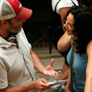 Director Terry Cunningham on set with Joanne Kelly Nadia Jack Hunter Trilogy  Cappadocia Turkey