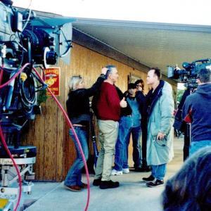 BJ Davis directing Burt Reynolds in Forget About It
