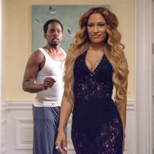 Still of Melissa De Sousa and Harold Perrineau in The Best Man Holiday (2013)