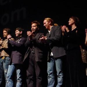 Gerard Butler Martin Delaney Ronan Vibert Tony Curran and Sarah Polley on stage Toronto Film Festival 2005