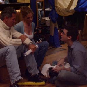 Jamie Duneier (filmmaker) coaches Kassie DePavia and Jack Scalia on the set of short film EXIT, (Platinum Remi Best Directing Award, WorldFest '05)