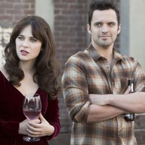 Still of Zooey Deschanel and Jake Johnson in New Girl (2011)