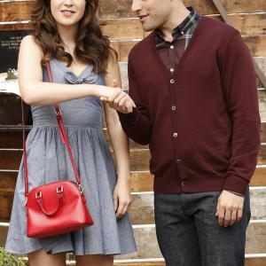 Still of Zooey Deschanel and Max Greenfield in New Girl (2011)