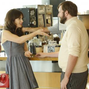 Still of Zooey Deschanel and Matteo Borghese in New Girl (2011)
