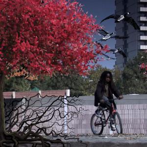 Illustration overlay live action Location Regent Park Toronto Concept powys dewhurst