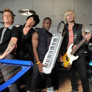 Billie Joe Armstrong, Tre Cool, Mike Dirnt, Kevin Hart, Green Day