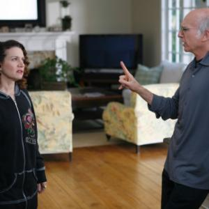 Still of Larry David and Susie Essman in Curb Your Enthusiasm (1999)