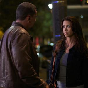 Still of Shannon Elizabeth and Craig Fairbrass in The Outsider (2014)
