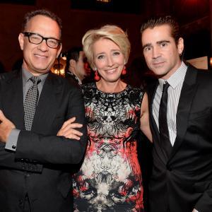 Tom Hanks Emma Thompson and Colin Farrell at event of Isgelbeti pona Benksa 2013