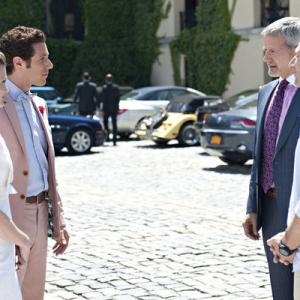 Still of Campbell Scott Paulo Costanzo Mark Feuerstein Brooke DOrsay and Hank Lawson in Royal Pains 2009