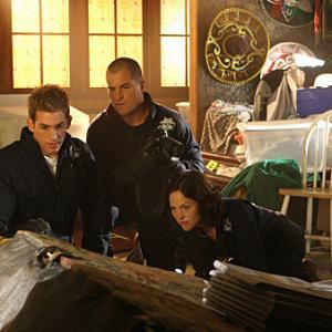 Still of George Eads, Jorja Fox and Eric Szmanda in CSI kriminalistai (2000)