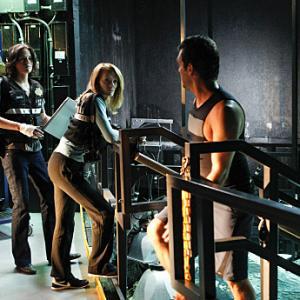 Still of Marg Helgenberger and Jorja Fox in CSI kriminalistai (2000)