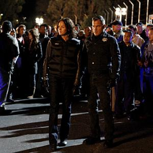 Still of George Eads and Jorja Fox in CSI kriminalistai (2000)