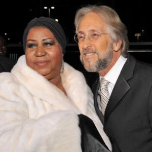 Aretha Franklin and Neil Portnow
