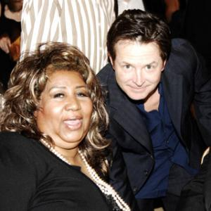 Michael J. Fox and Aretha Franklin