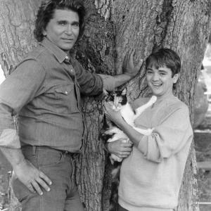 Still of Michael Landon and John Franklin in Highway to Heaven 1984