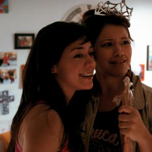 Still of Aimee Garcia and Gina Rodriguez in Go for It! (2011)