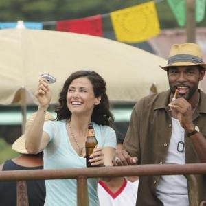 Still of Jason George and Valerie Cruz in Off the Map (2003)