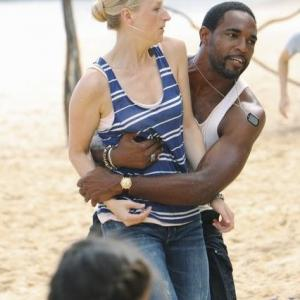 Still of Jason George and Mamie Gummer in Off the Map (2011)