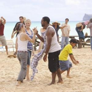 Still of Caroline Dhavernas, Jason George and Mamie Gummer in Off the Map (2011)