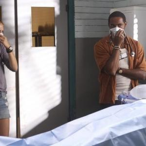 Still of Jason George and Rachelle Lefevre in Off the Map (2011)
