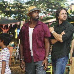 Still of Jason George and Martin Henderson in Off the Map (2011)