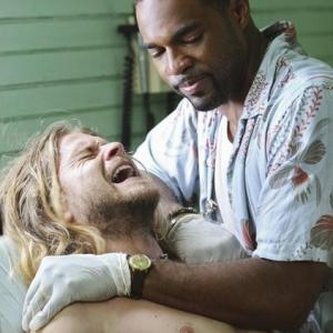 Still of Jason George and Thomas Blake in Off the Map (2011)