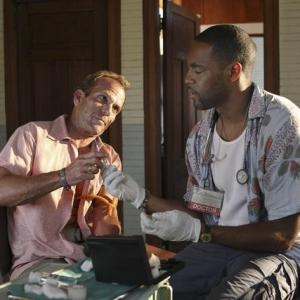 Still of Jason George and John Galindez in Off the Map (2011)