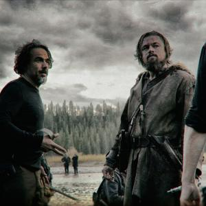 Still of Leonardo DiCaprio and Alejandro Gonzlez Irritu in The Revenant 2015