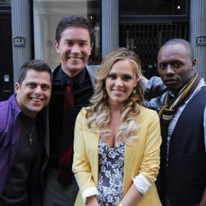 Joey Russo Tom Pelphrey Natalie Hall and Malcolm Goodwin in Lucky Number