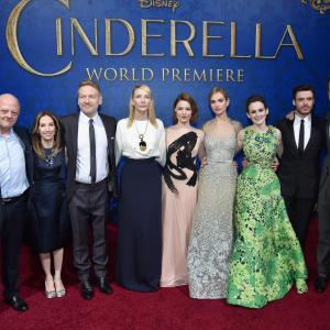 Kenneth Branagh, Cate Blanchett, David Barron, Holliday Grainger, Richard Madden, Simon Kinberg, Allison Shearmur, Robert A. Iger, Sophie McShera, Lily James