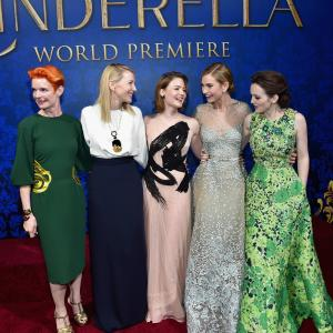 Cate Blanchett, Holliday Grainger, Sandy Powell, Sophie McShera, Lily James