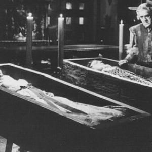 Still of Boris Karloff Rita Corday and Richard Greene in The Black Castle 1952