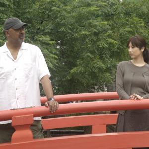 Daniel and Noriko at the Harimaya Bridge