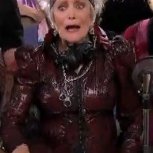 Eve Brenner in the Geezers Rock episode of