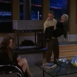 Eve Brenner as Lillian - with Richard Burgi and Wendie Malick - on