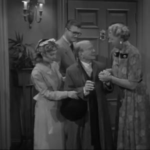 Eve Brenner as Betty - with George Reeves and others - on