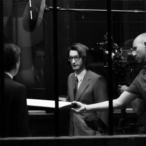 Yves Saint Laurent directed by Jalil Lespert 2013-on set with Pierre Niney