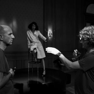 Yves Saint Laurent directed by Jalil Lespert 2013-on set with my Gaffer Laurent Heritier