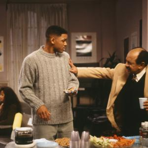 Will Smith and Sherman Hemsley at event of The Fresh Prince of Bel-Air (1990)