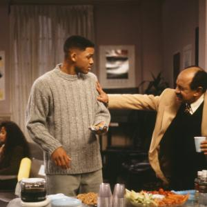 Still of Will Smith and Sherman Hemsley in The Fresh Prince of Bel-Air (1990)