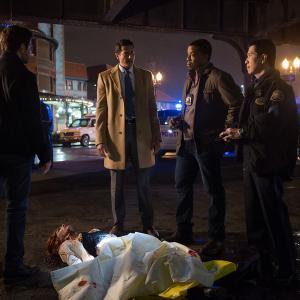 Still of Russell Hornsby, Reggie Lee, David Giuntoli and Sasha Roiz in Grimm (2011)