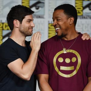 Russell Hornsby and David Giuntoli at event of Grimm (2011)