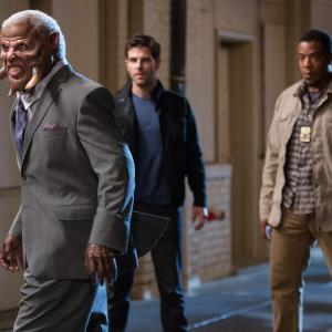 Still of Ron Canada, Russell Hornsby and David Giuntoli in Grimm (2011)