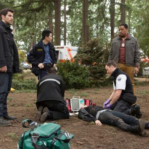 Still of Russell Hornsby, Reggie Lee and David Giuntoli in Grimm (2011)