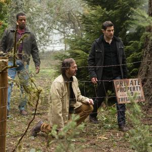 Still of Russell Hornsby, Silas Weir Mitchell and David Giuntoli in Grimm (2011)