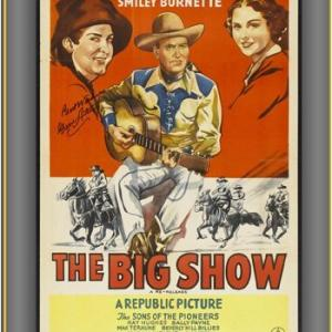 Gene Autry Smiley Burnette and Kay Hughes in The Big Show 1936