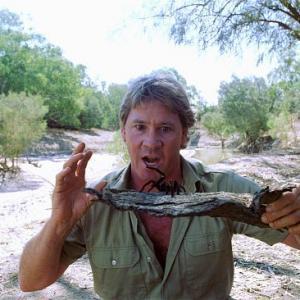 Still of Steve Irwin in The Crocodile Hunter Collision Course 2002